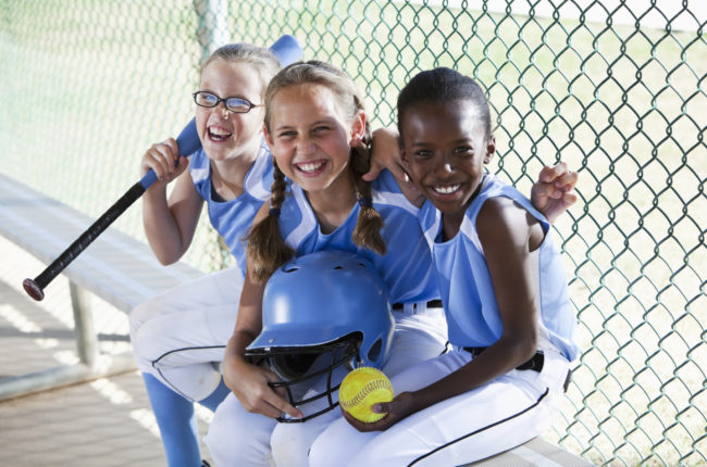 Softball kids